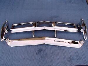 1967 CADILLAC DEVILLE 4-PIECE REAR BUMPER TRIPLE CHROME SHOW QUALITY