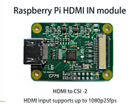 HDMI to CSI-2 Adapter Board HDMI IN input up to 1080p25fps For  Raspberry Pi