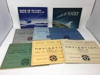 Graphic Flight Series & Flight Aeronautical Manuals Books Vintage 1940s Lot of 8