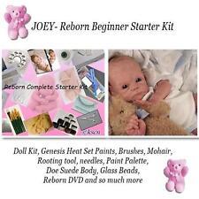 REBORN Starter Beginner Kit, Genesis paints, Mohair, DVD, REBORN DOLL KIT- JOEY