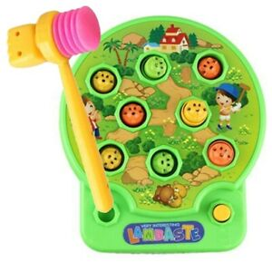 Pinball Whack a Mole Music Toy for Young Kids Hammer Hit Fun Bang Game