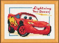 1x Counted Cross Thread Stitch Kit Disney Lightning McQueen Sewing Craft 4696
