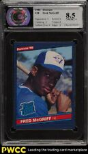 1986 Donruss Fred McGriff ROOKIE RC #28 CSA 8.5