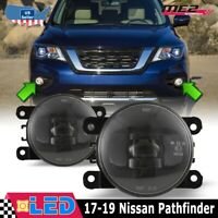Fit Jeep Cherokee 11-13 Clear Lens Pair Bumper LED Fog Light Lamp OE Replacement
