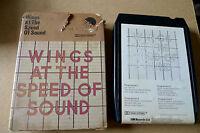 WINGS At The Speed of Sound Vintage 8 Track Cartridge Paul McCartney Beatles