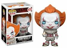 FUNKO PENNYWISE WITH BOAT CLOWN POP #472 BLUE EYES NEW