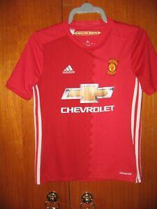 Manchester United Football Shirt adidas 2016 home shirt size age 11-12 152cm