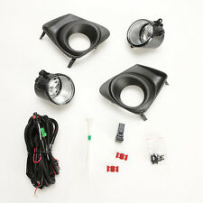 For 2011 2012 2013 Toyota Corolla Fog Lights Kit w/Black Bezel Wires Switch Bulb