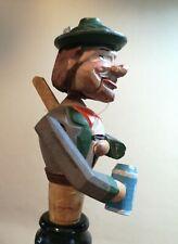 Vintage Articulated Carved Bottle Stopper Drinking Man Cork Liechtensteinklamm