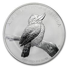 2010 Australia 1 kilo Silver Kookaburra BU