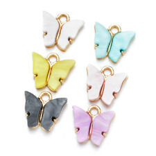 10Pc Butterfly Setting Acrylic Charms Lovely DIY Animal Pendant Handmade Jewelry