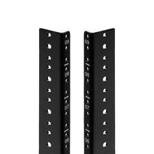 NavePoint 9U Vertical Rack Rail Pair DIY Kit with Hardware