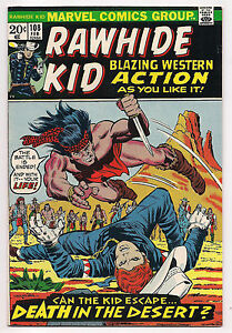 BRONZE AGE MARVEL WESTERN RAWHIDE KID #108 1973 NM/NM- HIGH GRADE