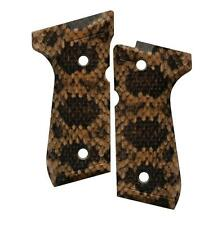 Custom Beretta 92 96 M9 Grips Ambidextrous Rattler Faux Snake Skin