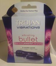 Trojan Vibrations Vibrating Bullet Massager Female Pleasure POWERFUL! 4 Speeds??