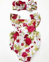 Infant Newborn Baby Girl Floral Romper Bodysuit Jumpsuit Outfits Clothes Sunsuit