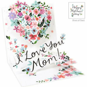3D Pop Up Greeting Card from Up With Paper - HEART FOR MOM - UP-WP-MD-1295