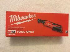 "New Milwaukee 2457-20 M12 12V 12 Volt Li-ion 3/8"" Cordless Ratchet  NIB"