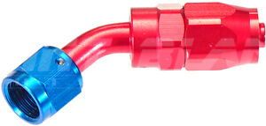 AN-6 45 Degree Hose End Fitting for Braided Hose