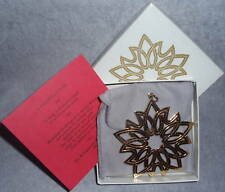 MMA 1977 6th Annual Gold Sterling Vermeil Star Xmas Ornament Pendant Medallion