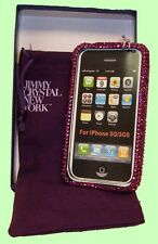 JIMMY CRYSTAL New York Hot Pink Rhinestones IPHONE 3& 3S Case Msrp$188 *FREE S/H