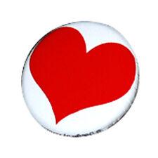 Badge GRAND COEUR ROUGE Red Heart love Punk Rock Pins pop culte pin button Ø25mm