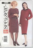 See & Sew 3689 Misses' Dress, Top and Skirt