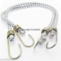 """2 x MARINE GRADE 2 Ft Long (24"""") Boat Camping Trailer Bungee Cord Straps Bungy"""