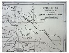 1885 Maclagan - RIVERS OF THE PUNJAB - British Dominion - MAP - 11