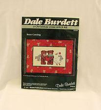"Vintage 1985 ""BEARS CAROLING"" Christmas Cross Stitch Kit~Dale Burdett Design~NEW"