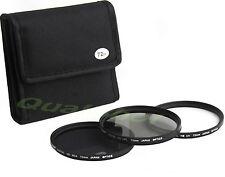 72mm 3 Camera Lens Filter Kit UV / ND4 / CPL - Circular Polarizer/Nutral Density