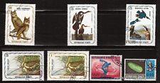 103T3 Haití 7 sellos matasellados : Oiseaux de marais y nocturnes ,diversos