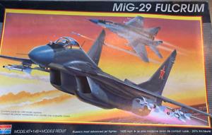 Monogram MIG-29 Fulcrum 1/48 NIOB! ▓RARE▓ plane jet fighter Soviet Russian
