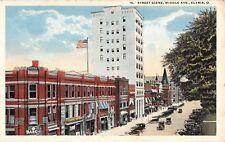 Ohio postcard Elyria Street Scene Middle Avenue