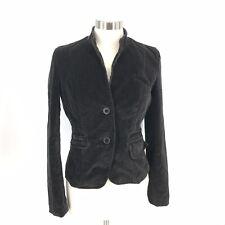 Lucky Brand Jacket Medium Black Velvet Two Button Blazer career wear casual