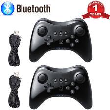 2 x Black U Pro Bluetooth Wireless Controller Gamepad Joypad for Nintendo Wii U