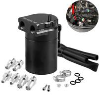 300ML Oil Catch Can Kit Universal Black Breather Baffled Aluminum Reservoir Tank