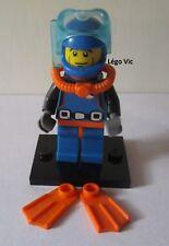 Légo 8683 Minifig Figurine Série 1 Deep Sea Diver Plongeur + Socle