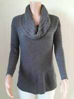 Style& Co Sweater women.Grey. Turtleneck. Tunic. NEW. Knitted. Long sleeve. S9