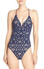 NWT NEW Nanette Lepore Crochet Goddess One Piece Swimsuit Small $172 de28