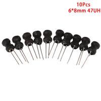 10pcs/lot Power Inductor DIP 6*8mm 47uH DR Inductors Word U_X