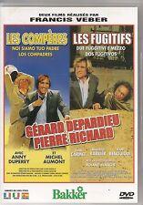2 DVD ZONE 2 / 2 FILMS--LES COMPERES & LES FUGITIFS--VEBER/DEPARDIEU/RICHARD