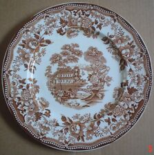 Royal Staffordshire Dinnerware By Clarice Cliff TONQUIN Brown And White