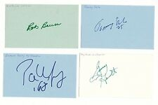 Lot Of 12 Ny Islanders Signed 3x5 Index Card Rare Autograph Salo/Palffy/Bourne