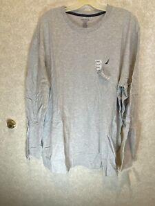 Nautica XXL Sleep Shirt NWT Long Sleeve Grey