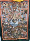 Tibetan Buddhist Thangka, Highly Detailed Painting