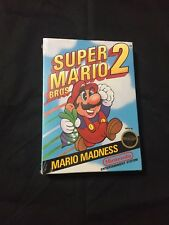 Super Mario Bros 2 1989 Nintendo Rare First Print Black Seal NES Sealed New