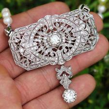 Halsketten mit Diamant-Anhänger aus Platin
