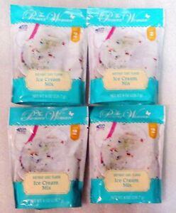 LOT OF 4 PIONEER WOMAN BIRTHDAY CAKE Flavor ICE CREAM MIX EA.Makes 2 QTS. FRESH