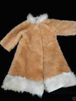 Teddy Bear or Doll Long Coat Plush Material Caramel 1960s 22in Chest 20in Vtg
